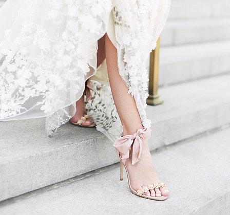 Mariée - Luxe Silk Heel with Silk Bow Strap (Wholesale)