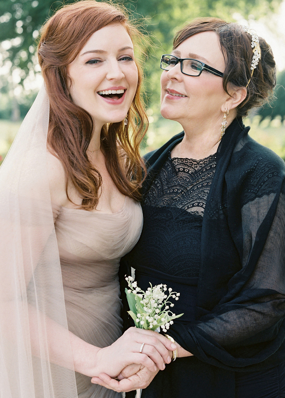 Me & My Mom on my wedding day / Photo by Laura Gordon