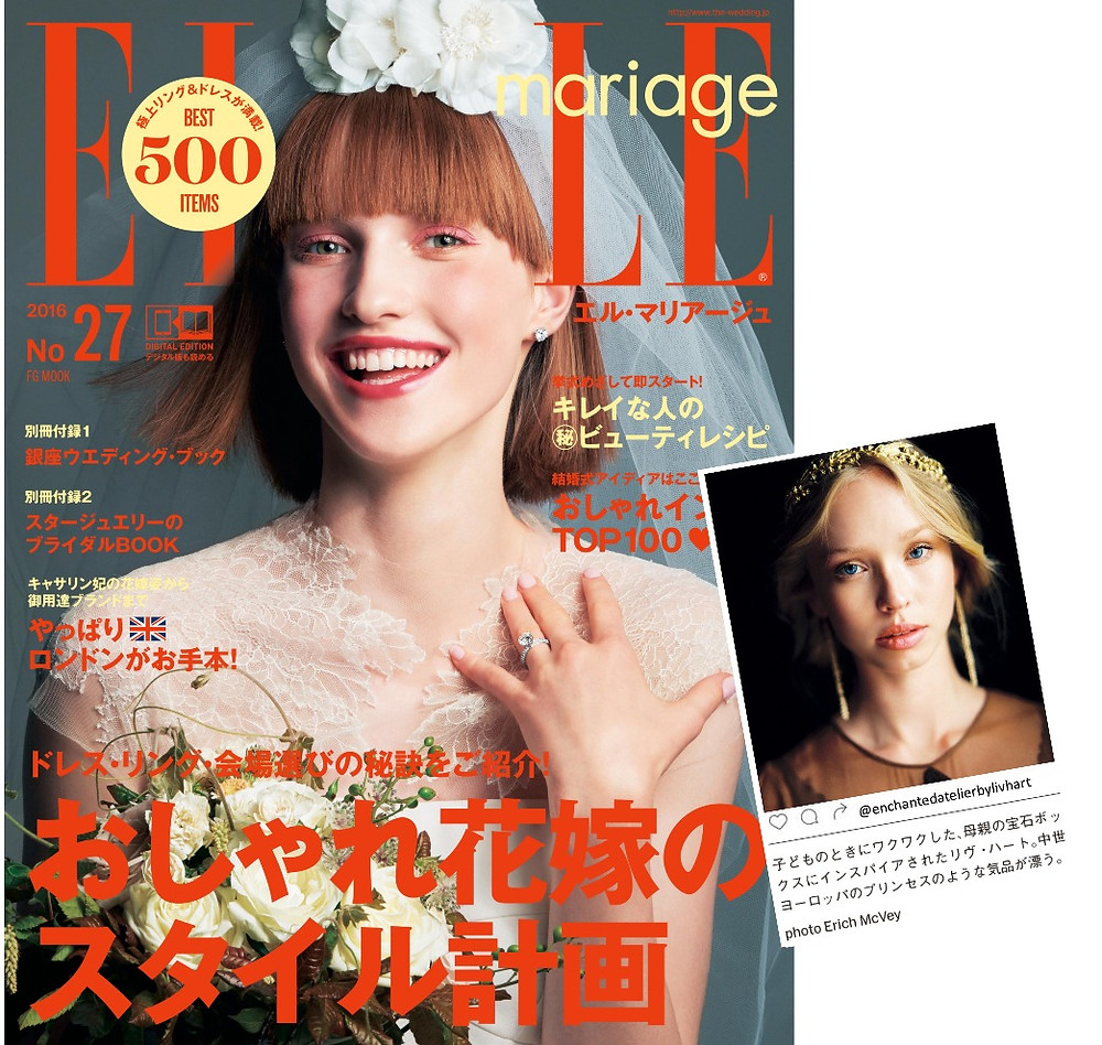 ELLE Magazine (Japan) Features Liv Hart