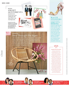 Liv Hart for Bella Belle Shoes featured in the Winter 2018 Issue of The Knot