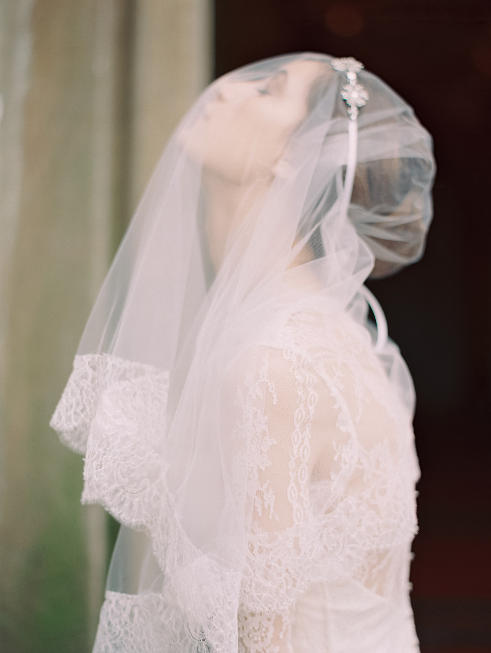 """Celine"" Liv Hart X Sophie Hallette Lace Veil, Photo by Laura Gordon"