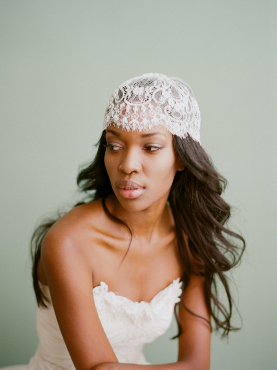 """Marielle"" Liv Hart X Sophie Hallette Lace Cap, Photo by Elizabeth Messina"