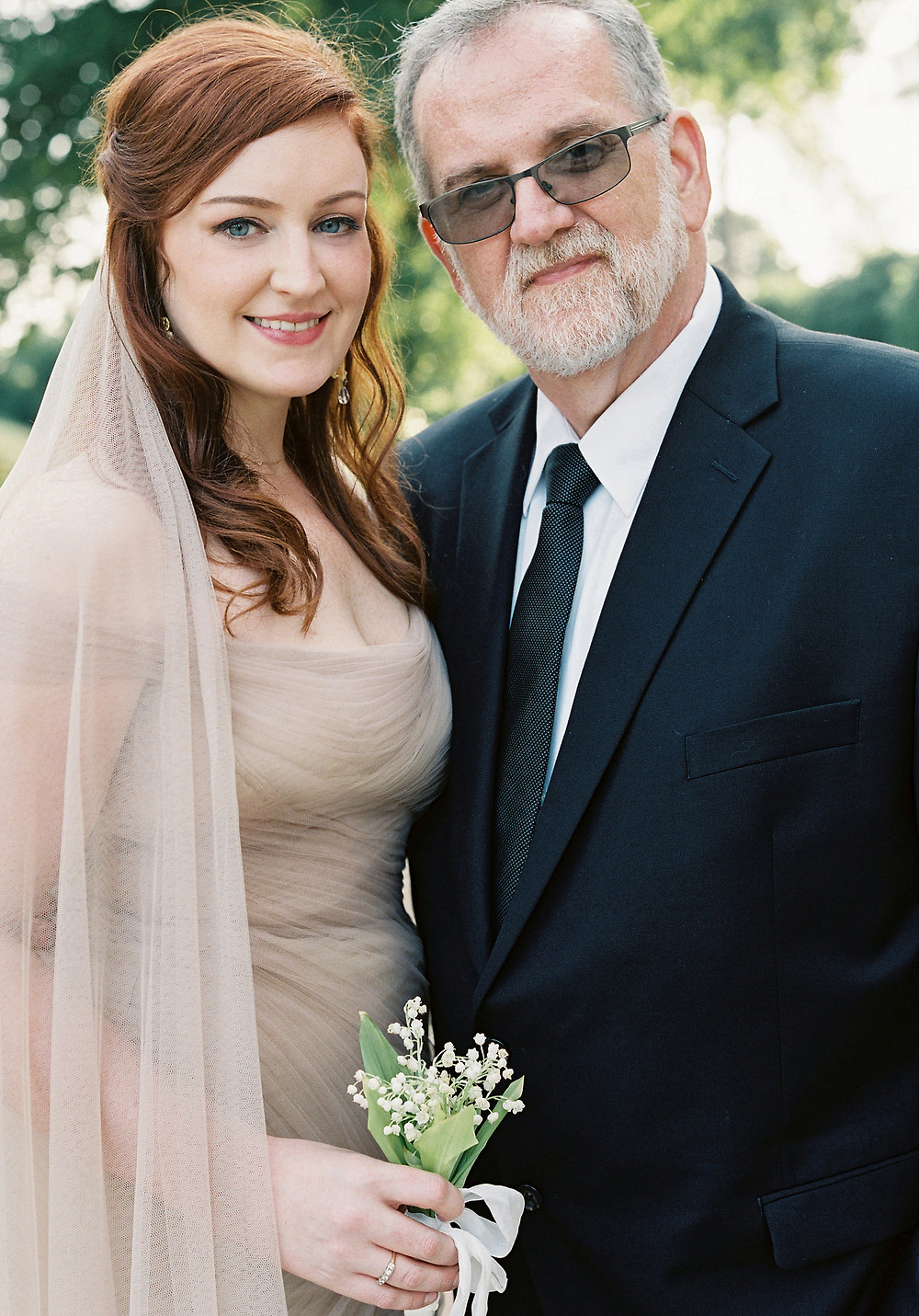 Me and My Dad on my wedding day / Photo by Laura Gordon