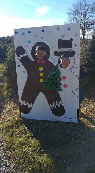 Snowman and Ginger Bread Man at Shale Hi