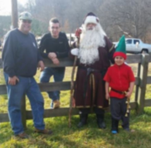 Santa Jingle Farmer Mike and Chris at Sh