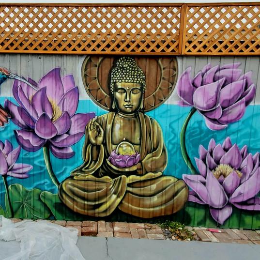 Buddah fence