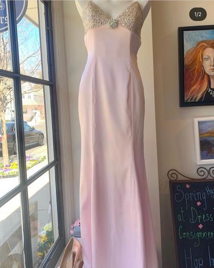 Pink Satin Dress Sean Couture