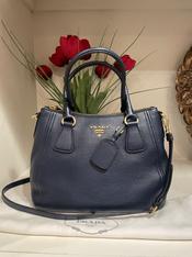 SOLD Prada Navy Handle bag, with Cross-body Strap