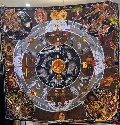 SOLD Tribal Inca Hermes Silk Scarf