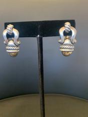 David Yurman Buckle Earrings, 18K, 925