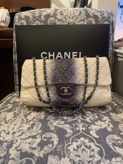 SOLD Chanel Ombre Flap Bag, Lambskin