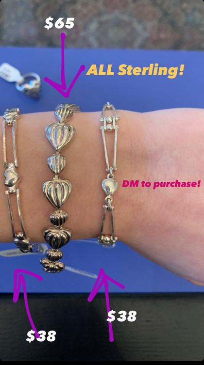 Sterling Heart Bracelets
