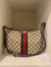 SOLD Gucci Shoulder Bag, Coated Canvas