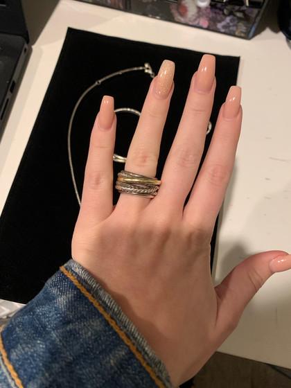 SOLD David Yurman Cord Ring 925/585