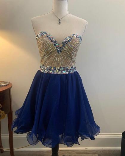 Blue Tulle/Gem Dress