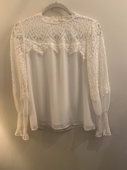 WHBM w/ Lace Top