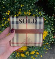 SOLD Burberry Sanp Close Wallet