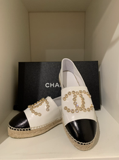 SOLD Chanel Rhinestone Espadrilles