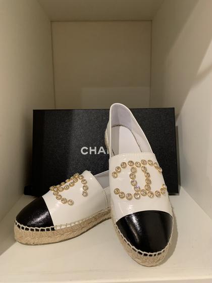 Chanel Rhinestone Espadrilles