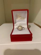 SOLD Pearl, Diamond, 10K Ring