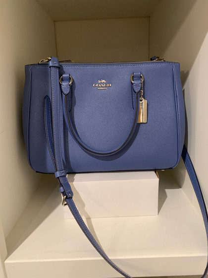 SOLD Coach Blue Leather Bag