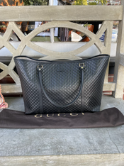 Gucci embossed large tote