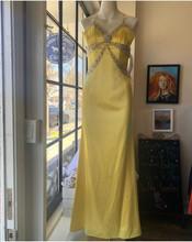Yellow Satin Dress Sean Couture