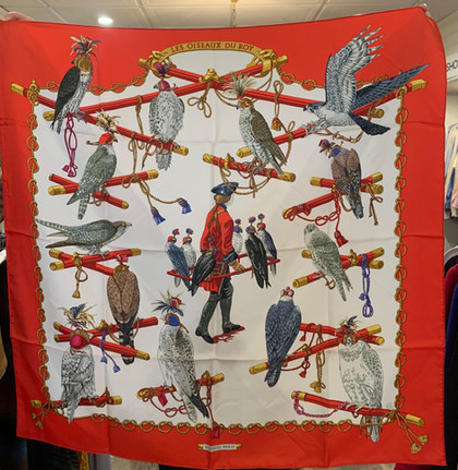 SOLD Falcons Hermes Silk