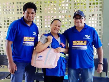 CAMPANHA DE SINDICALIZAÇÃO 2019: Sindicato entrega Kit Maternidade na UBS Fazenda da Juta 2
