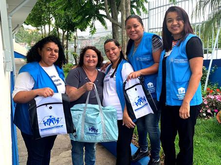 CAMPANHA DE SINDICALIZAÇÃO 2019: Sindicato entrega Kit Maternidade na UBS Carlos Gentile de Melo