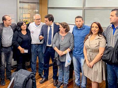 Quatro sindicatos reúnem-se com deputado estadual Vinícius Camarinha