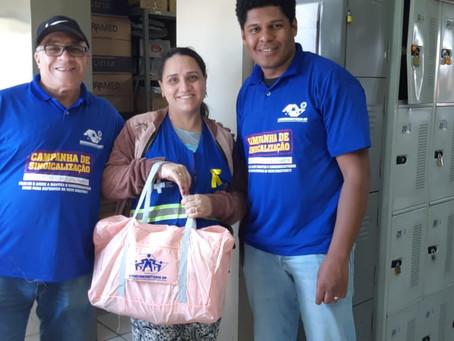 CAMPANHA DE SINDICALIZAÇÃO 2019: Sindicato entrega Kit Maternidade na UBS Almirante Delamare