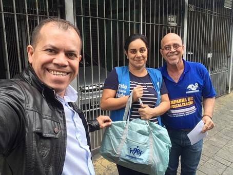 CAMPANHA DE SINDICALIZAÇÃO 2019: Sindicato entrega Kit Maternidade na UBS Zumbi dos Palmares