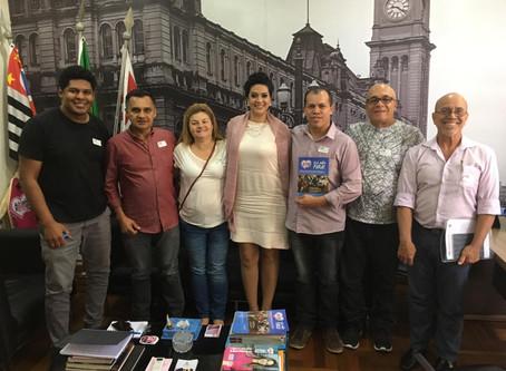Diretores do Sindicomunitário-SP se reúnem com vereadora Adriana Ramalho