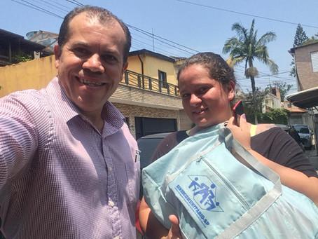 CAMPANHA DE SINDICALIZAÇÃO 2019: Sindicato entrega Kit Maternidade na UBS Anchieta