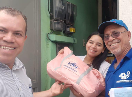 CAMPANHA DE SINDICALIZAÇÃO 2019: Sindicato entrega do Kit Maternidade na UBS Jd. Selma, Zona Sul