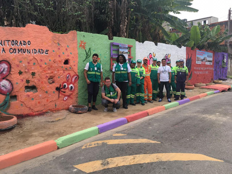 Agentes da Zona Leste promovem reurbanização no Jardim Belém