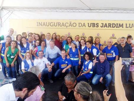 Sindicomunitário-SP comemora inauguração da nova UBS Jardim Lucélia