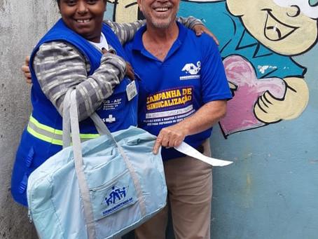 CAMPANHA DE SINDICALIZAÇÃO 2019: Sindicato entrega Kit Maternidade na UBS Três Corações