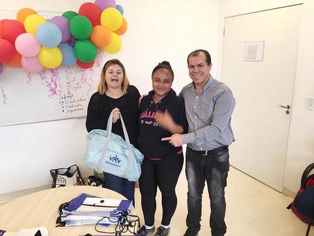 CAMPANHA DE SINDICALIZAÇÃO 2019: Sindicato entrega do Kit Maternidade na UBS Jd. Colombo