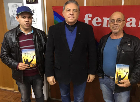 Jailson visita o presidente do Sintracon, Antonio Ramalho