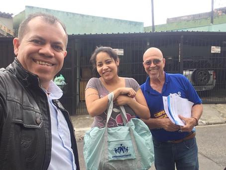 CAMPANHA DE SINDICALIZAÇÃO 2019: Sindicato entrega Kit Maternidade na UBS Chácara Santana