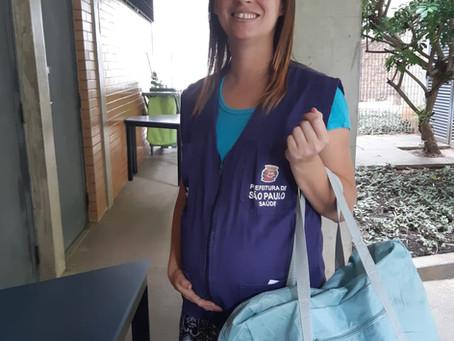 CAMPANHA DE SINDICALIZAÇÃO 2019: Sindicato entrega do Kit Maternidade na UBS São Remo, na Zona Oeste