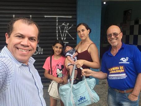 CAMPANHA DE SINDICALIZAÇÃO 2019: Sindicato entrega Kit Maternidade na UBS Nova América