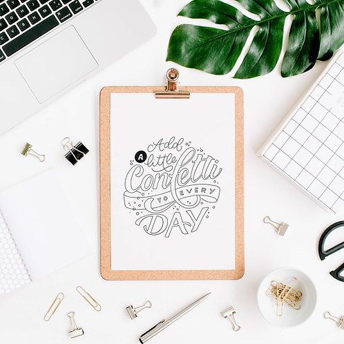 Printable - Vorlage Add a little Confetti to every Day