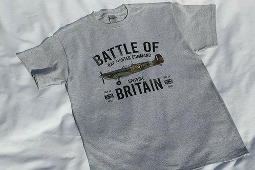 Adult T Shirt RAF Battle of Britain Spitfire