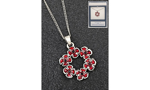 Circle of Poppies Necklace