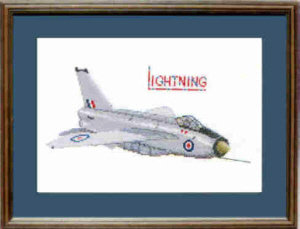 English Electric Lightning Cross Stitch Kit