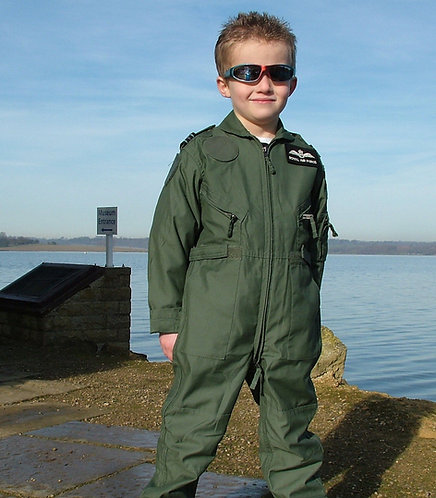 Green Childrens Flying Suit