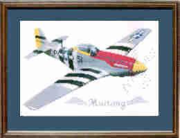 P51 Mustang Cross Stitch Kit